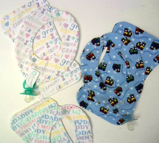 Baby Binkie Bib and Burp Cloth