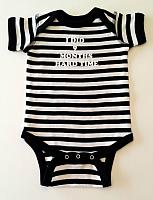 Black & White Striped Onesie