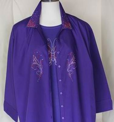 SH-4001 Purple Blouse
